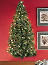 Pre-lit Wall Tree - 48 inches tall Hanging Christmas tree | Solutions $49.98