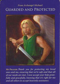 Archangel Michael Angel Cards by Doreen Virtue Michael Angel, Archangel Michael, Angel Guidance, Spiritual Guidance, Archangel Prayers, Free Tarot Cards, Doreen Virtue, Angel Cards, Oracle Cards
