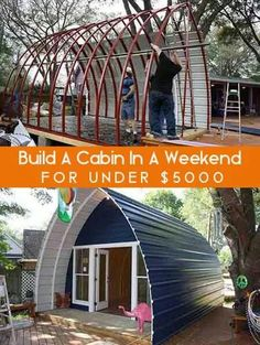 A cabin for under 500.00 in one weekend WOW