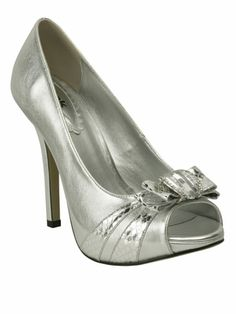 Add a pop of mystical silver to your little black dress with these Pink Paradox heels! $74.00