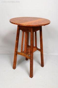 Arts & Crafts Heals Golden Oak Occasional Table Golden Oak, Hall Tables, Stool, Arts And Crafts, Living Room, Antiques, Furniture, Image, Home Decor