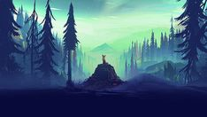 This HD wallpaper is about mountain and pine trees graphic, animal on brown stone surrounded by trees illustration, Original wallpaper dimensions is file size is Computer Desktop Backgrounds, Desktop Background Images, Desktop Wallpapers, Active Wallpaper, Photo Wallpaper, 1080p Wallpaper, Glitch Wallpaper, Motif Tropical, Tree Graphic