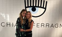 Valentina Ferragni and Giorgia Marin at the presentation of the new Chiara Ferragni shoes collection during the Milan Fashion Week, on September 27, 2015 in Milan, Italy.
