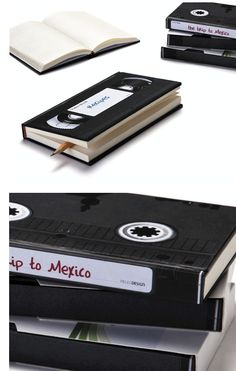 love these vhs tape journals