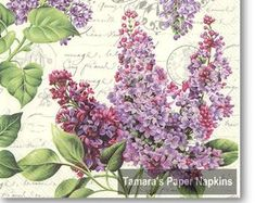 Paper Napkins for Decoupage and Party by tamaraspapernapkins Shabby Chic Napkins, Christmas Paper Napkins, Paper Napkins For Decoupage, Lilac, Purple, Retro Vintage, Floral Wreath, Etsy Seller, Viola