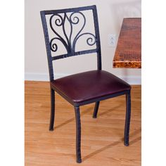 chairs wrought iron and wood - Google Search