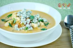 Buffalo Chicken Soup - Low Carb, Gluten Free  *i make a lazy-buffalo-chicken dish in the slow-cooker! Top with Blue cheese crumbles... YUM!