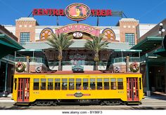 Stock Photo - Ybor City Spanish culture center in Tampa Florida with trolley Tampa Florida, Florida Vacation, Tampa Bay, Ybor City Tampa, Spanish Culture, Local Attractions, How To Memorize Things, United States, Stock Photos