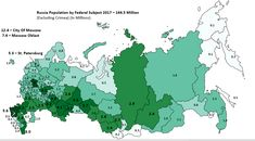 Russia Population Map 2017