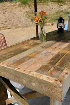 Table à manger terrasse en palette