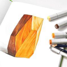 Good wood 11 июня планирую провести бесплатный вебинар в @kalachevaschool, посвящённый фактурам и текстурам. Стекло, мех, металл, древесина - что вы бы хотели порисовать со мной? #copic #sketch #sketchbook #leuchtturm1917 #render #markers