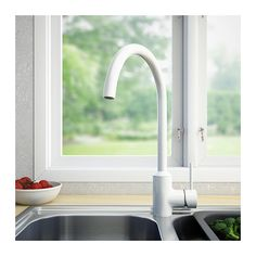 RINGSKÄR Single lever kitchen faucet - white - IKEA | HOME cabin ...