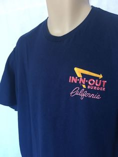 a9854cbf48 IN-N-OUT BURGER CA Since 1948 Men s Graphic T-Shirt Blue Short Sleeve Size  XL. eBay