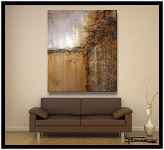 XL 48 X 36 X 1.5 Limited Edition, Hand Embellished, Textural, Abstract Painting. Giclee on Canvas.