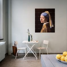 Girl with a pearl earring - meisje met de parel IXXI Design Shop, Johannes Vermeer, Square Card, Small Cards, Home Decor Wall Art, Textured Walls, House Colors, Home And Living, Wall Murals