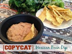 Recipe | Copycat Crock Pot Mexican Bean Dip