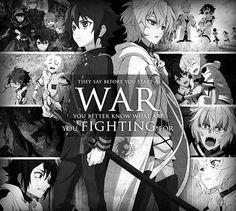 "Owari No Seraph// Well, I guess Mikeala would say he'd fight for ""Yuu-chan""."