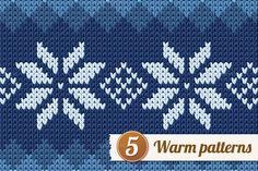 5 knitted patterns. by Ann-zabella on @creativemarket