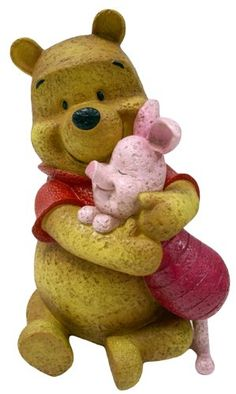 Disney LDG88517 Winnie the Pooh and Piglet, Natural Stone Finished