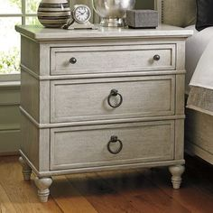 Oyster Bay Collection by Lexington Home Brands Cedarhurst Nightstand - Hooker Furniture, Furniture Making, Bedroom Furniture, Bedroom Décor, Kitchen Furniture, Bedroom Night, Bedroom Ideas, Accent Furniture, Office Furniture
