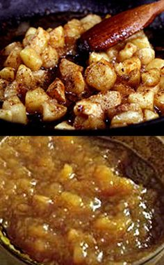 20 minute Brown Butter Cinnamon Pan Applesauce. Apples are sauteed in brown butter, brown sugar and cinnamon for a super quick, fresh applesauce that is out of this world! Mash it for chunky..puree it for smooth! I guarantee you've never had applesauce this flavorful!