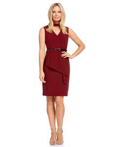 Image for Priscilla Origami Peplum Dress from JacquiE