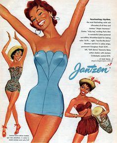 Jantzen 1954  Check out more retro swimwear @ http://myvintagevogue.com