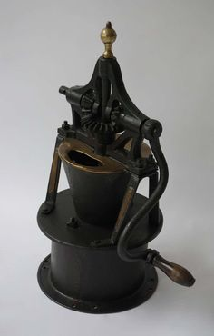 For Sale on - An early Industrial coffee grinder. Coffee Grinders, Queso, Table Lamp, Industrial, Decor, Pinwheels, Grains, Table Lamps, Decoration