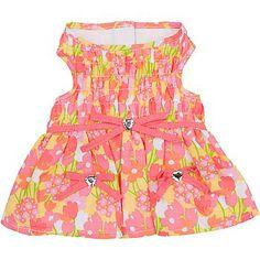 Petco Smoochie Pooch Pink Flower Garden Dog Dress at PETCO