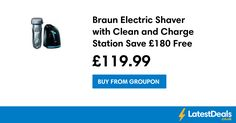 Braun Electric Shaver with Clean and Charge Station Save £180 Free Delivery, £119.99 at Groupon