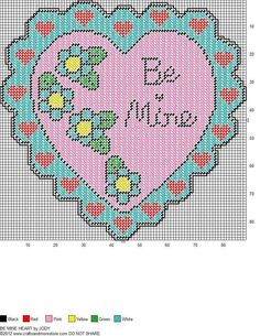 BE MINE HEART by JODY -- WALL HANGING