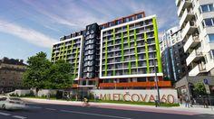 Miletičova 60 vizualizácia čelný pohľad Multi Story Building