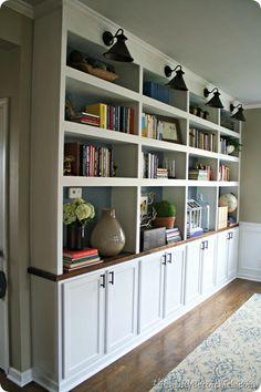 DIY built ins cabinets for basement