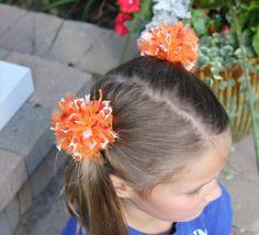 Pumpkin hair poms!