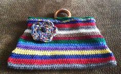 Wood handle purse