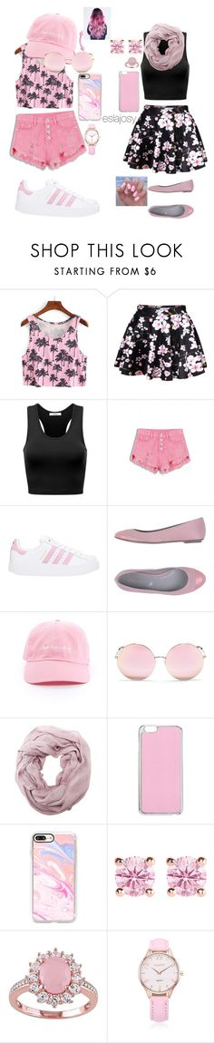 """""""Best of Both: Pink"""" by eslajosy ❤ liked on Polyvore featuring WithChic, adidas, Sergio Rossi, Matthew Williamson, Charlotte Russe, Miss Selfridge, Casetify and Thomas Sabo"""