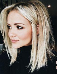 blonde long bob Beauty Bucket List in 2019 Vaaleat hiukset long bob hairstyles - Bob Hairstyles Hair 2018, Cool Hair Color, Hair Colors, Great Hair, Hair Lengths, Hair Trends, New Hair, Hair Inspiration, Character Inspiration
