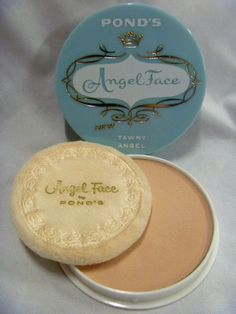 Vintage Pond's ANGEL FACE TAWNY Face Powder Compact UNUSED!