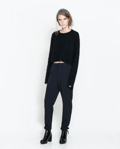 LOOSE FIT TROUSERS WITH RIBBON AND POCKET