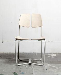 Flex by Georgi Manassiev - steel & plywood chair