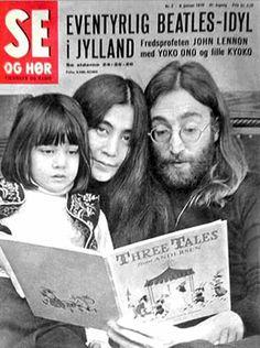 John, Yoko and Kyoko on the cover of a Swedish Magazine