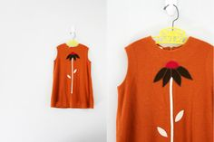 vintage 60s Little Girls Dress Pumpkin Spice by vintagekidlets