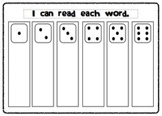 Customize your own sight words activity with this template. Fun and engaging center activity for sight words practice!