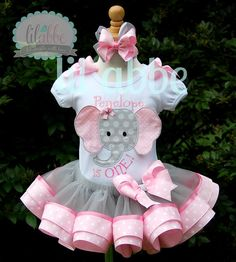 Trendy baby must haves diy ideas Ideas Baby Girl Shoes, Baby Girl Dresses, Baby Dress, Elephant First Birthday, Baby Girl First Birthday, Baby Girl Elephant, Elephant Baby Showers, Toddler Outfits, Girl Outfits