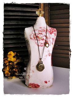 Elegant  linen jewelry table display Dress Form by lin168 on Etsy, $39.00