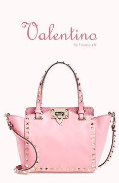 Emmy DE * Valentino 'Micro Mini Rockstud' Leather Tote