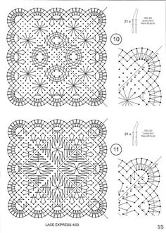 """Klöppelspitze: Magazin """"Our Lace Garden II Lace Ex … - Stricken 2019 Lace Making, Book Making, Lace Weave, Bobbin Lacemaking, Bobbin Lace Patterns, Quilling Paper Craft, Parchment Craft, Lace Jewelry, Square Patterns"""