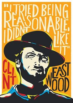 'Clint Eastwood Pop Art Portrait' Poster by BONBcreative, Pop Art Posters, Movie Poster Art, Pop Art Portraits, Portrait Art, Clint Eastwood Quotes, Eastwood Movies, Fiesta Pop Art, Art Music, Music Artists