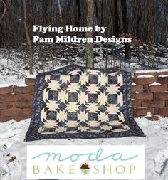 I am happy to share with you this traditional quilt using the fabulous Summer on the Pond fabric line by Holly Taylor. In these cold winter days, this fabric brings wistful thoughts of the summer and