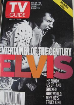 TV Guides with Elvis Presley Covers by ClosetFull on Etsy, $8.00